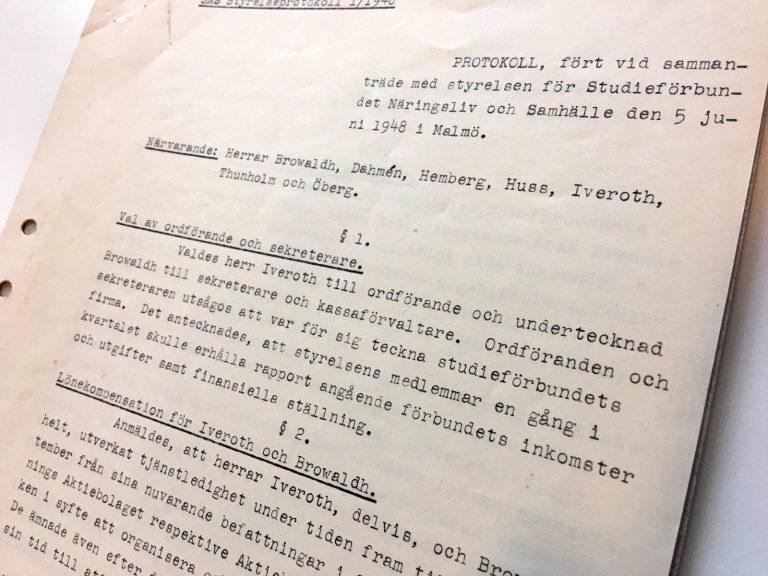 SNS styrelseprotokoll 1948 IMG_1220
